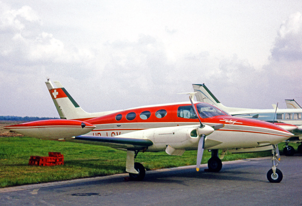 Cessna 411 civil au sol