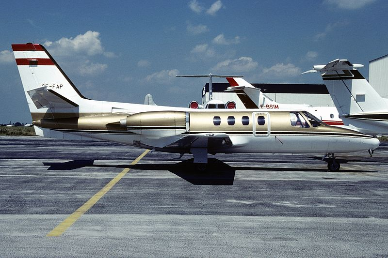 Cessna 500 Citation I civil de profil