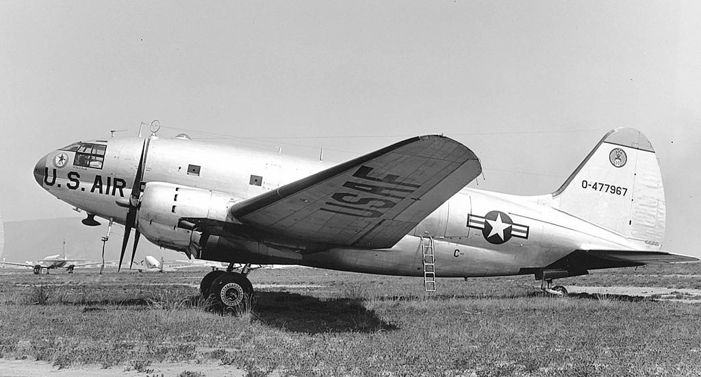 Curtiss C-46D Commando de l'USAF