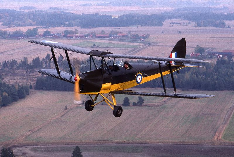 De Havilland DH-82A Tiger Moth aux couleurs de la RAF