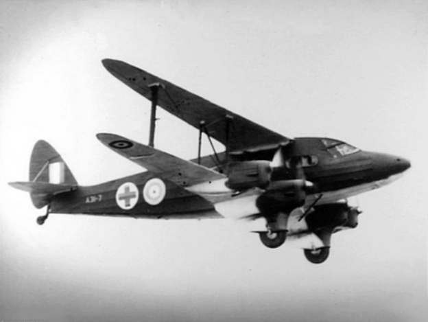 De Havilland DH-86A Express australien en vol