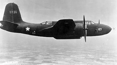 Douglas A-20 Boston (P-70A) en vol