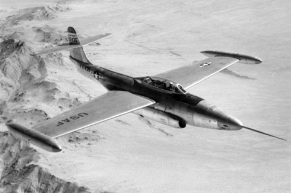 Northrop F-89A Scorpion de l'USAF en vol