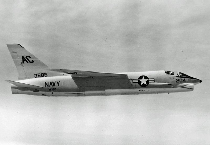 Vought F-8 Crusader (F-8A) de l'US Navy
