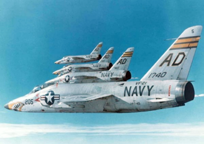 Grumman F-11 Tiger de l'US Navy en formation