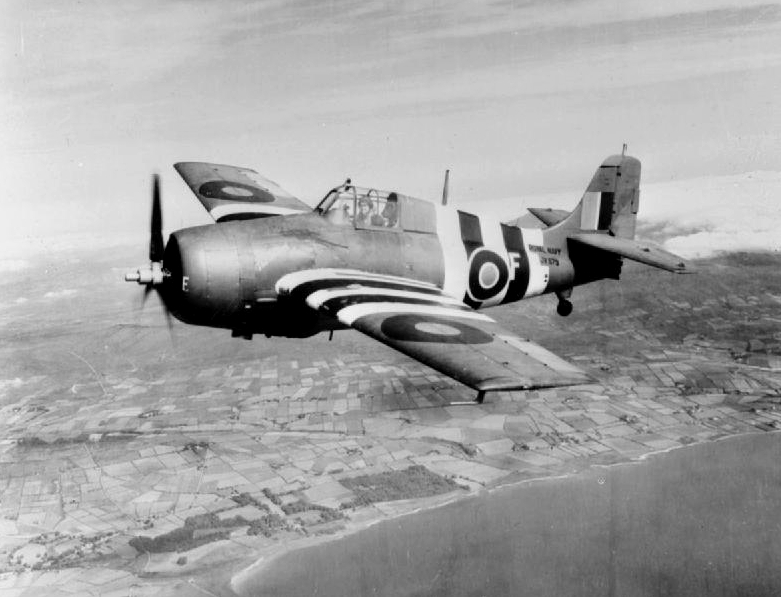 Grumman F4F Wildcat de la Royal Navy en vol