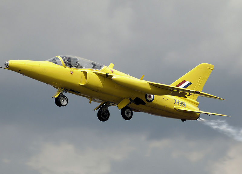 Folland Gnat T.1 aux couleurs de la patrouille Yellowjacks