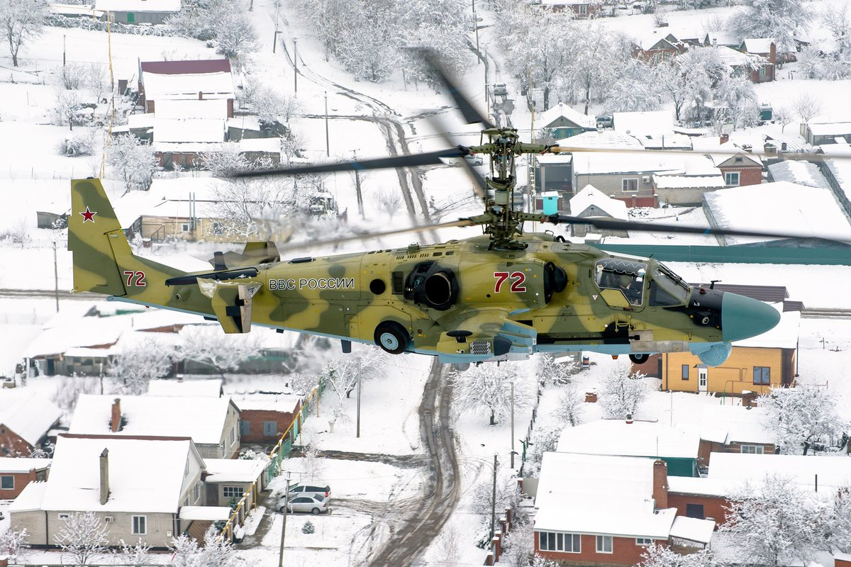 Kamov Ka-52 Alligator russe en vol
