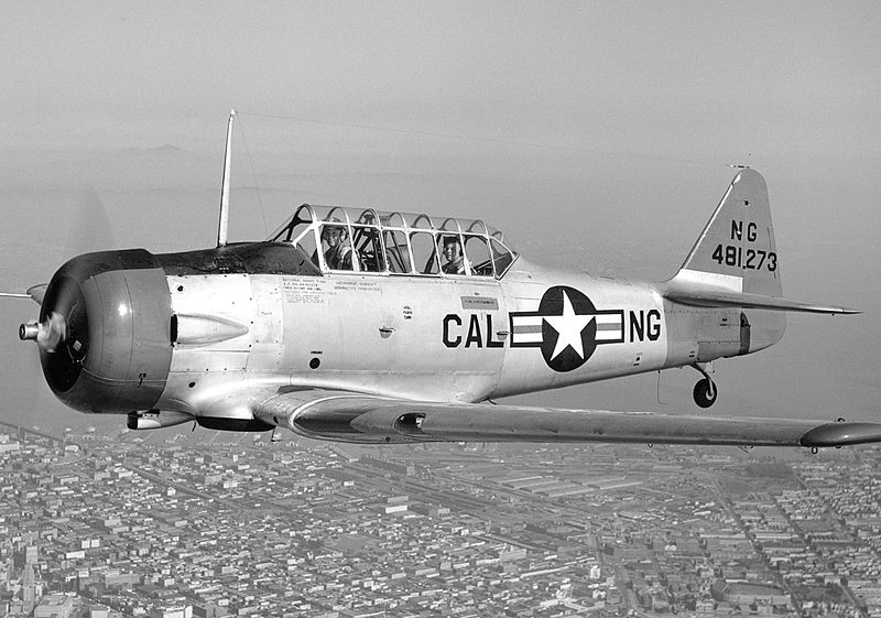 North American T-6D Texan de l'ANG