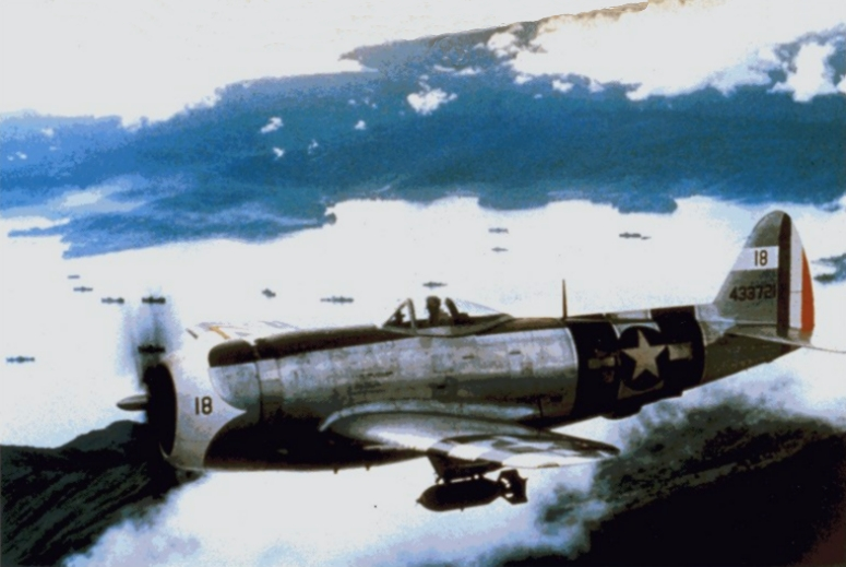 Republic P-47D Thunderbolt mexicain