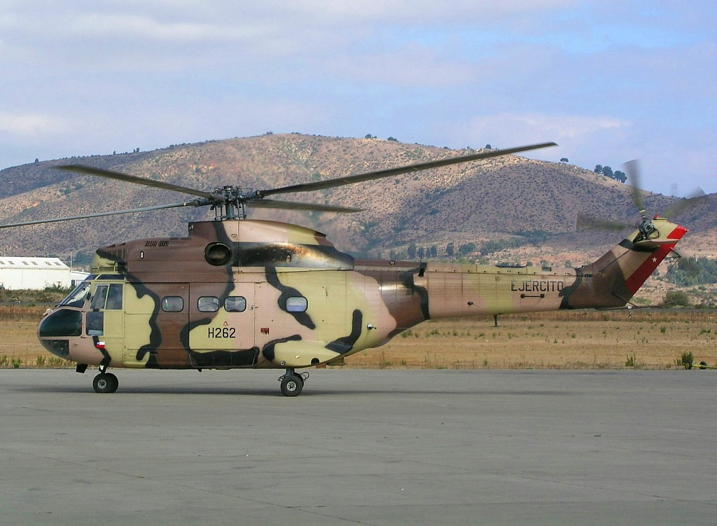 Sud-Aviation SA 330L Puma de l'armée de terre chilienne
