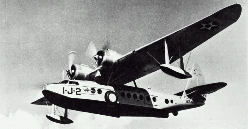 Sikorsky S-43 Baby Clipper (JRS-1) de l'US Navy en vol