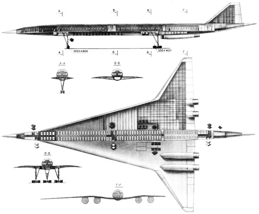 Tupolev Tu-244 - Document original