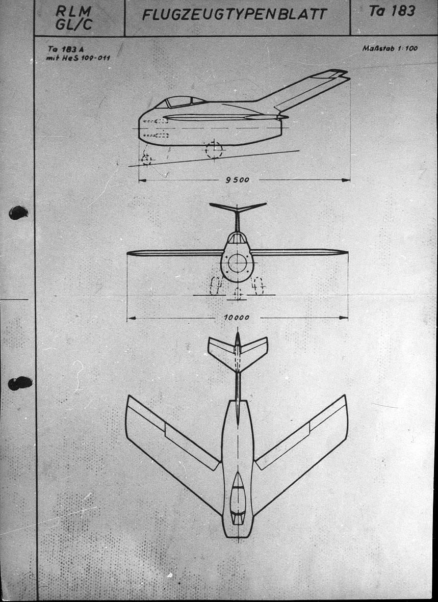 Focke-Wulf Ta 183 Design II - Document original 1