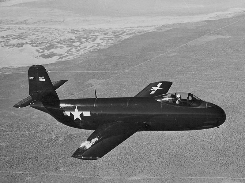 Vought XF6U-1 Pirate en vol