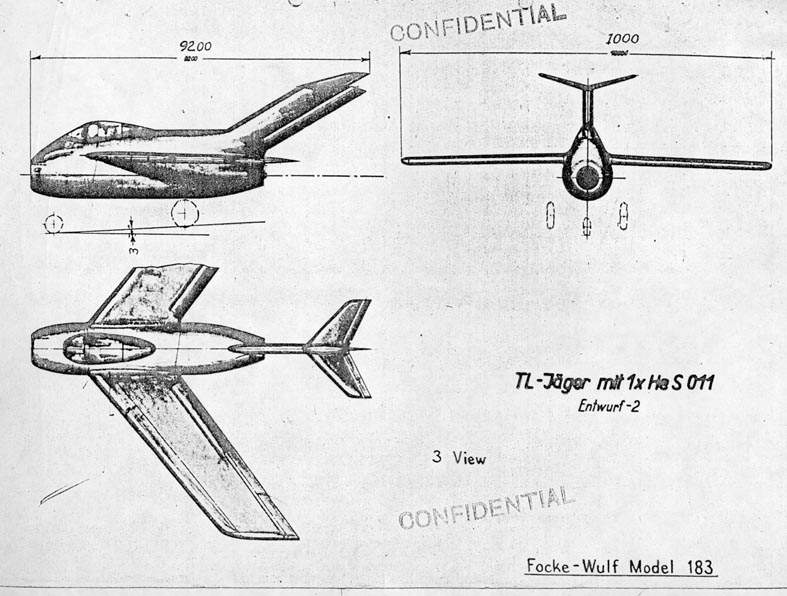 Focke-Wulf Ta 183 Design II - Document original 2