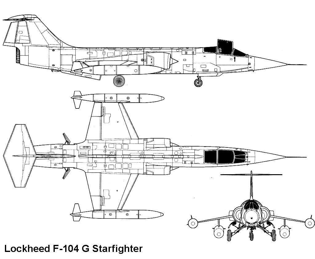 Lockheed f 104g for 104 1 the fish